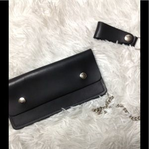 Other - Leather wallet on chain
